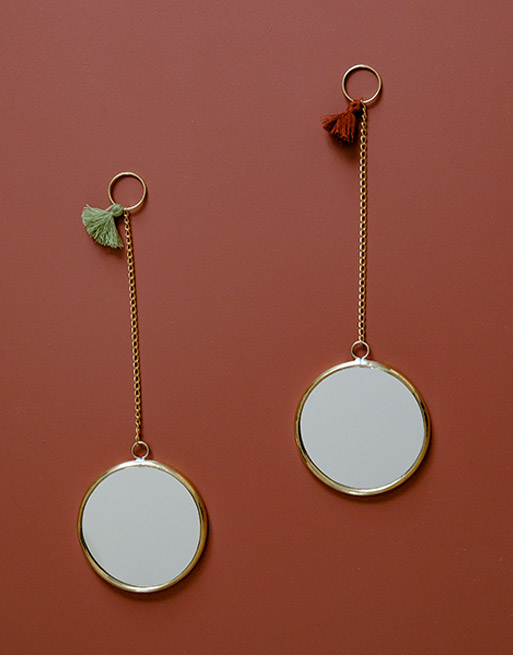Miroirs Pompons Rond