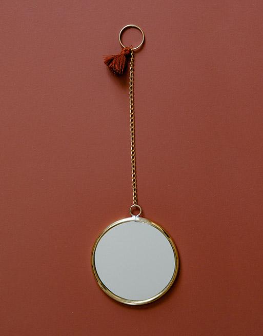 Miroir Rond Terracotta