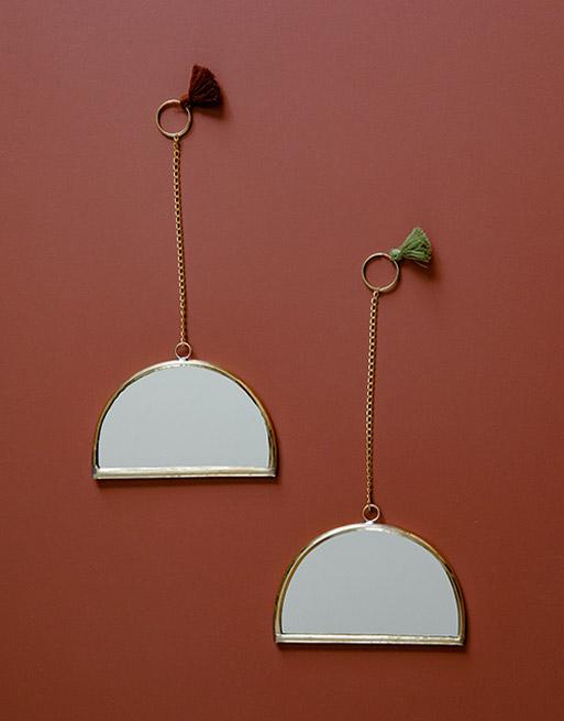 Miroirs Arc Pompons